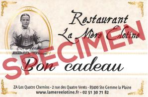 Bon cadeau Restaurant La Mère Elotine à Luçon