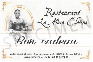 Bon cadeau La Mère Elotine - Restaurant à Luçon en Vendée